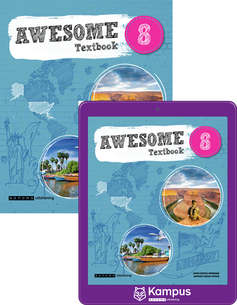 Awesome English 8 elevpaket, 1ex Textbok + 1ex digital